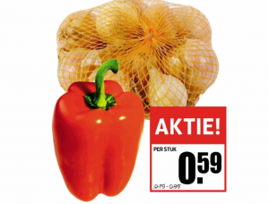 paprika rood per stuk of uien net van 15 kilo