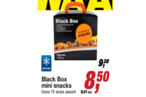 black box mini snacks