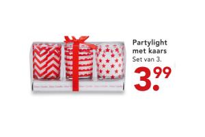 partylight met kaars