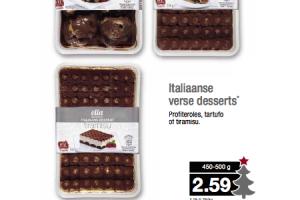 italiaanse verse desserts
