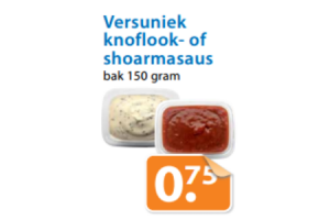 versuniek knoflook  of shoarmasaus