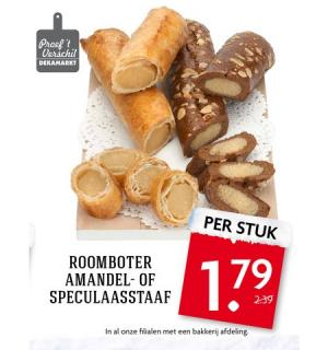 roomboter amandel  of speculaasstaaf