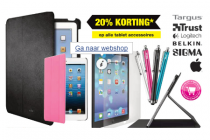 20 korting op alle tablet accessoires