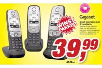dect telefoon met 3 handsets