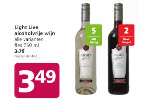light live alcoholvrije wijn 750ml