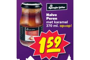 bijzonder lekker halve peren met karamel 370ml
