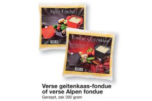 verse geitenkaas fondue of verse alpen fondue