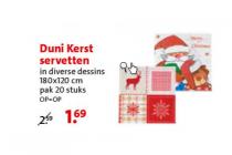 duni kerst servetten