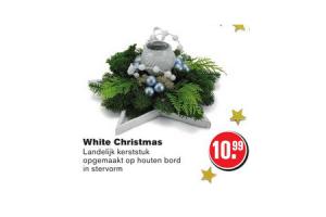 white christmas landelijk kerststuk