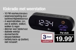 klokradio met weerstation