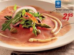 tonijn carpaccio