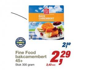 fine food bakcamembert