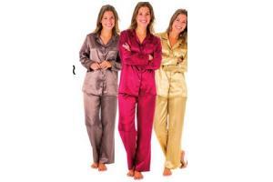 satijnen damespyjama