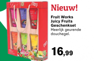 geshenkset fruit works geurende douchegel