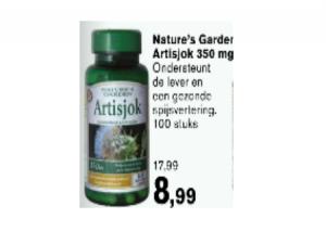 natures garden artisjok 350mg