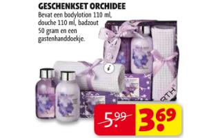 geschenkset orchidee
