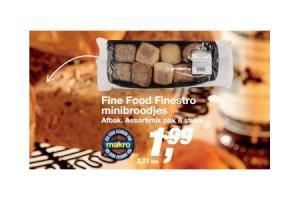 fine food finestro minibroodjes