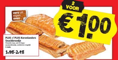 plus korenlanders snackbroodje