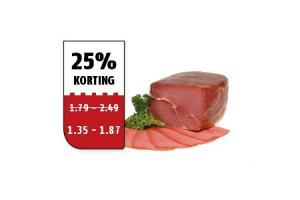 bacon coburger  ardenner ham of schwarzwalder schinken