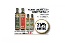 monini olijfolie of druivenpitolie