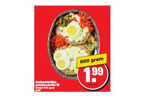 ambachtelijke saladeschotel