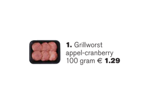 grillworst appel cranberry
