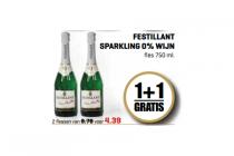 festillant sparkling 0 wijn