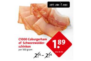 coburger ham of schwarzhalder ham