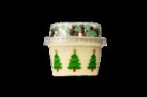 kinder vanillevla met kersttopping