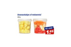 ananasstukjes of meloenmix