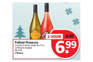 polloni prosecco frizzante of raboso rosato fles 75 cl