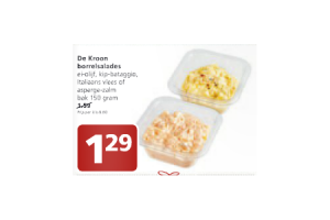 de kroon borrelsalades