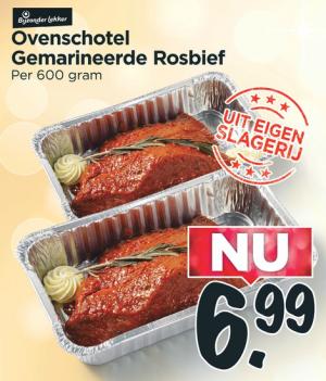 ovenschotel gemarineerde rosbief