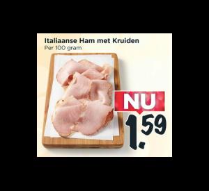 italiaanse ham met kruiden
