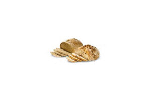 authentieke vruchten noten of donkere meergranen bol