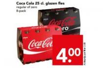 coca cola 25 cl. glazen fles
