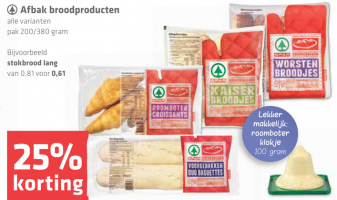 spar afbak broodproducten