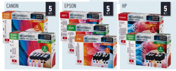 multipack cartridges voor canon epson of hp