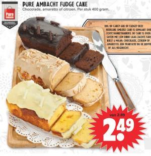 pure ambacht fudge cake