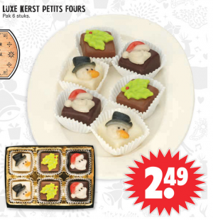 luxe kerst petits fours