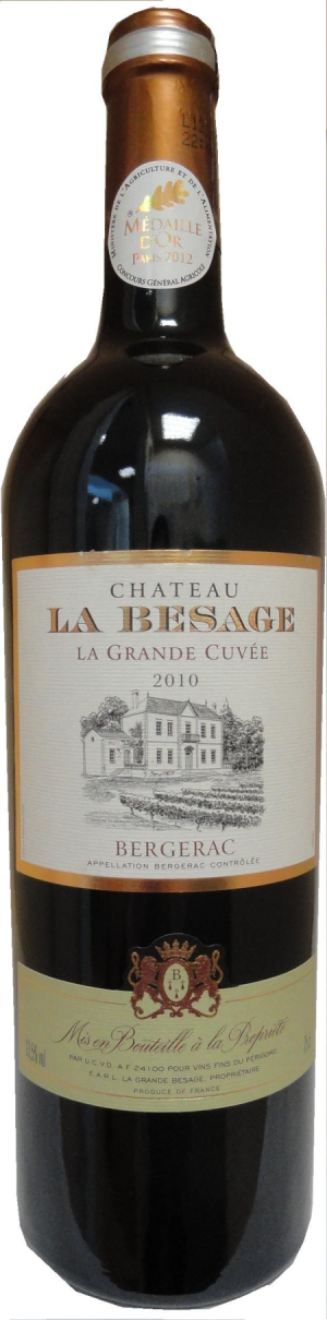 chateau la besage la grande cuvee aoc bergerac 2012
