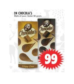 24 chocolas