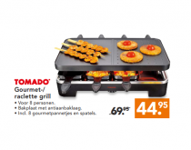 tomado gourmet raclette grill