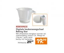 shoenle digitale keukenweegschaal baking star