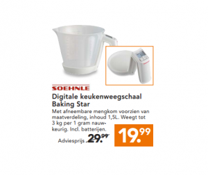 shoenle digitale keukenweegschaal baking star