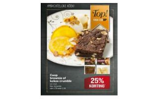 coop brownie of kokos crumble