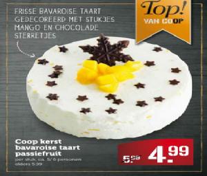 coop kerst bavaroise taart passiefruit
