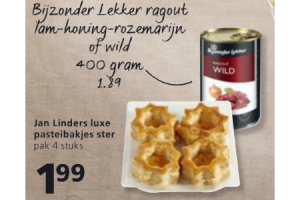bijzonder lekker ragout lam honing rozemarijn of wild