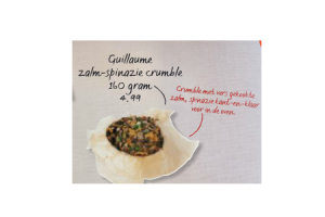 guillaume zalm spinazie crumble