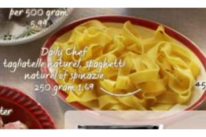 daily chef taglitelle naturel spaghetti naturel of spinazie.